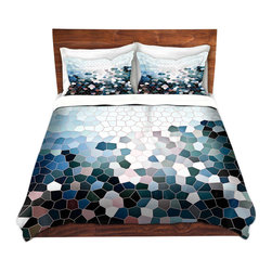 DiaNoche Designs - Duvet Cover Twill - Patternization I - Lightweight and soft brushed twill Duvet Cover sizes Twin, Queen, King.  SHAMS NOT INCLUDED.  This duvet is designed to wash upon arrival for maximum softness.   Each duvet starts by looming the fabric and cutting to the size ordered.  The Image is printed and your Duvet Cover is meticulously sewn together with ties in each corner and a concealed zip closure.  All in the USA!!  Poly top with a Cotton Poly underside.  Dye Sublimation printing permanently adheres the ink to the material for long life and durability. Printed top, cream colored bottom, Machine Washable, Product may vary slightly from image.