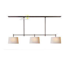 Modern Simple 3 Fabric shades Copper Chandelier - Modern Simple 3 Fabric shades Copper Chandelier