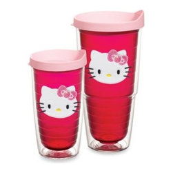 Tervis - Tervis Hello Kitty Wrap Tumblers with Pink Lid - Show everybody you're Hello Kitty's number one fan whenever you carry and drink out of these cute and vibrant wrap tumblers. Tervis Tumblers are made with double walled insulation to keep hot drinks hot and cold drinks cold.