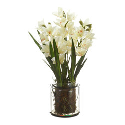 Silk Plants Direct - Silk Plants Direct Cymbidium Orchid Plant (Pack of 1) - Pack of 1. Silk Plants Direct specializes in manufacturing, design and supply of the most life-like, premium quality artificial plants, trees, flowers, arrangements, topiaries and containers for home, office and commercial use. Our Cymbidium Orchid Plant includes the following: