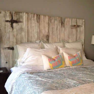 Vintage Headboards - A king size headboard made by Vintage Headboards - finishing touches by Paula Moore.  She rocks!!!  Contact us at vintageheadboards@gmail.com or call 972.668.2603 to place your orders!