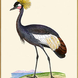 """Balearic Crane Hanging Picture 4""""x6"""" - 4x6 Hanging Picture"""