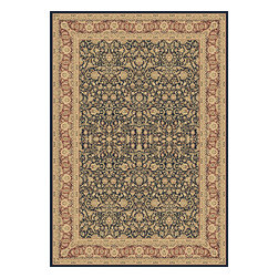 """Dynamic Rugs - Dynamic Rugs Legacy 58004-530 (Navy) 6'7"""" x 9'6"""" Rug - Legacy is yet another superb collection with magnificent styling and priced to fit any budget. Legacy is densely Woven on wilton loom with high quality heat-set polypropylene that is anti-static with highest color fastness."""