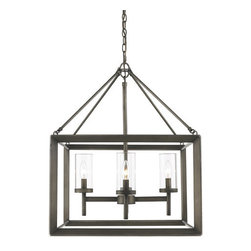 Golden Lighting - Golden Lighting 2073-4 Smyth 4 Light Single Tier Chandelier - Golden Lighting 4 Light Chandelier from the Smyth CollectionFeatures: