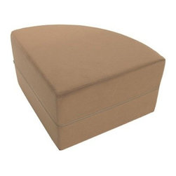 """OneUp Innovations, Inc - Moz Quarter Round 22"""" x 22"""" x 17"""" Foam Seating, Microsuede Camel - Moz Rounds are a series of forms creating striking wall treatments, modular seating areas and coffee table-like surfaces. Half rounds are useful for creating seating backs - quarter rounds add architectural scallops on top of any Moz wall system installation. Perfect for architects and designers looking to explore new ground and bring a three-dimensional wall surface as well as a topographic design to any large space environment. Mix and match 14 and 17-inch high units to provide a recessed design and seating for people of all sizes. Moz is ideal for that vacant wall begging for art."""