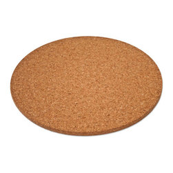The Felt Store - Cork Hot Pad - Round (300 Dia X 10mm) - The Felt Store's Cork Hot Pads are an essential part of your tableware for the eco-conscious! This Cork Hot Pad is both naturally stylish and functional as it is a perfect way to protect your table and various surfaces from hot pots, pans and dishes in your kitchen and dining area! Serve your food in style with our Cork Hot Pads available in different shapes and sizes. This product is approximately 12 inches in diameter and 0.40 inches thick, and can be wiped clean with a damp cloth.