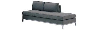 Lazar Series W Collection - Armless Loveseat with Bumper - MM125082