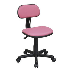 Office Star - Office Star OSP Designs Seating Task Chair in Pink - Office Star - Office Chairs - 499261 -