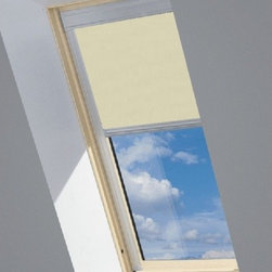 Fakro - Roller Blinds SRF-MV 052 24x27 BEIGE - Gradual reduction of incoming light up to complete blackout.