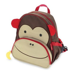 Skip Hop - SKIP*HOP Zoo Packs Little Kid Backpacks in Monkey - Adorable lunch pack has a roomy main compartment and an insulated pouch for snacks. There's an adjustable mesh bottle pocket and padded, adjustable comfy straps.