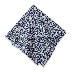 Scroll Napkins, Navy