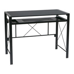 Office Star - Office Star Creston Desk with White Frame and White Top - Features:
