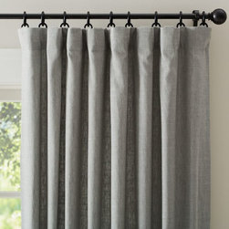 Emery Linen Drape, Gray - There is such a casual elegance about a linen drape. It keeps your space casual yet chic. I adore this shade of gray too.
