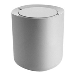 "Alessi - Alessi ""Birillo"" Waste Bin - This is a bathroom waste bin in white PMMA."