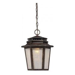 Minka-Lavery - Minka-Lavery 1-Light Outdoor Chain Hung - 8274-A357-L - This 1-Light Hanging Lantern has a Bronze Finish.