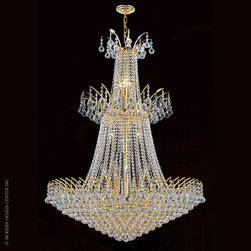 Worldwide Lighting Empire Chandelier W83052G32 - Worldwide Lighting Empire Collection 18 light Gold Finish and Clear Crystal Chandelier
