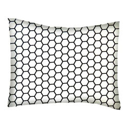 SheetWorld - SheetWorld Twin Pillow Case - Percale Pillow Case - White Honeycomb -Made in USA - Pillow case is made of a durable all cotton percale/woven material. Fits a standard twin size pillow. Side Opening. Features a white honeycomb print.