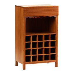 Greenington - Orchid Wine Cabinet - Bring your best bottles front and center with this bamboo-crafted wine cabinet. Store 20 bottles and the glasses to go with them in this full-bodied feat of storage and style.