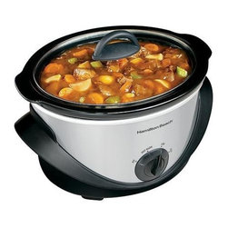 Hamilton Beach - Hamilton Beach - 4 Quart Oval Slow Cooker - Dishwasher safe stoneware and lid. 4 quart oval stoneware. Keep warm setting. Recipes included