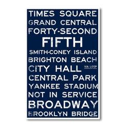 PosterEnvy - New York Signs - NEW World Travel Train Station Street Sign Poster - New York Signs - NEW World Travel Train Station Street Sign Poster