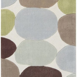 """Surya - Contemporary Cosmopolitan Hallway Runner 2'6""""x8' Runner White, Fern Green Area R - The Cosmopolitan area rug Collection offers an affordable assortment of Contemporary stylings. Cosmopolitan features a blend of natural White, Fern Green color. Hand Tufted of 100% Polyester the Cosmopolitan Collection is an intriguing compliment to any decor."""