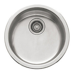 """Franke - Franke RBX-110 Stainless Steel Rotondo Rotondo 17-1/8"""" x 17-1/8"""" - Rotondo Kitchen Sink Single Basin Stainless Steel An accessorized Rotondo works for garden room, baking center, or laundry.  23 3/16"""" x 20 7/16"""" undermount sink. Bowl: 21 1/4"""" x 18 7/8"""" x 8 11/16"""". Integral ledge 3 1/2"""" from bottom of large basin for optional shelf grid. Standard 3 1/2"""" diameter waste opening, drain not included"""