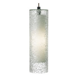 LBL Lighting - LBL Lighting Rock Candy Clear 32W Pendant 1 Light Foyer Pendant - LBL Lighting Rock Candy Clear 32W Pendant 1 Light Foyer PendantThe uniquely beautiful texture of this majestic pedant is created by skilled craftspeople using a laborious process. First, Clear glass is mouth-blown into a cylinder shape, this cylinder shaped glass is then rolled in Clear crystal frit, and finally it is fired at high temperatures to fuse the components together to create a uniquely stylish piece. Lit from within by an energy-efficient 32 watt GX24Q-3 base triple tube CFL, this piece will add both style and sustainability to your home.LBL Lighting Rock Candy Clear 32W Pendant Features: