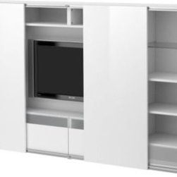 IKEA of Sweden/Mikael Warnhammar - Bestä/Inreda TV Storage Combo With Sliding Doors - This is a genius way to have a TV without the ugliness that is the black box. Cover it up when it's not in use with this entertainment center.