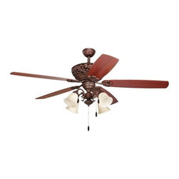 "RMO60 - 60"" ceiling fan, light kit included, reversible blades"