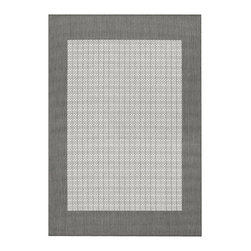 """Couristan - Recife Checkered Field Rug 1005/3012 - 7'6"""" x 10'9"""" - These weather-defying area rugs are suitable for indoor and outdoor use. You'll love the way they color-coordinate with today's most popular outdoor furniture pieces. The collection's naturally inspired color palette will provide a warmer and more inviting appearance for patio decks and stone entryways."""