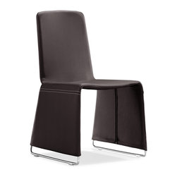 Zuo Modern - Zuo Modern Nova Modern Dining Chair (Pack of 2) X-211201 - The Nova dining chair has a soft leatherette wrapped frame with chromed steel legs.