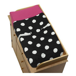 Sweet Jojo Designs - Hot Dot Changing Pad Cover by Sweet Jojo Designs - The Hot Dot Changing Pad Cover by Sweet Jojo Designs, along with the  bedding accessories.