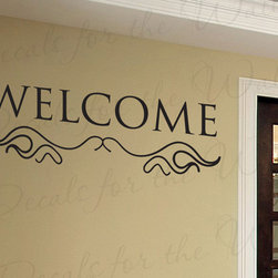Decals for the Wall - Wall Art Decal Sticker Quote Vinyl Lettering Removable Decoration Welcome E03 - This decal says ''Welcome''