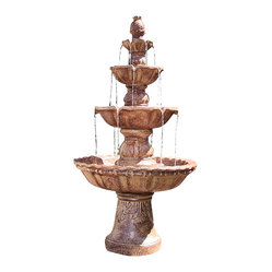 "Serenity Health & Home Decor - 4-Tier Pineapple Fountain - 27""Lx27""Wx52""H Weight: 50 lbs."