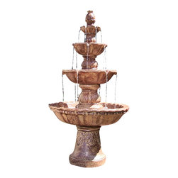 "Sunnydaze Decor - 4-Tier Pineapple Fountain - 27""Lx27""Wx52""H Weight: 50 lbs."