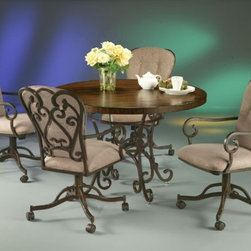 Pastel Furniture - Magnolia 5 Piece Dining Table Set in Autumn Rust - VD510-471- - Set includes Dining Table and 4 Chairs