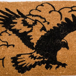 "CocoMatsNMore - CocoMatsNMore Pouncing Eagle Design Coco Doormats - 18"" X 30"" - Eco-friendly Coco Mat are hand-woven and  made from 100% natural coir . These coco doormats are designed to last for a long time and are easy to maintain and clean by either shaking or hosing it down. Designed with fade-resistant dyes they are durable enough to withstand the harshness of weather and look good througout the year. Furthermore, they keep your house clean by doing a fabulous job of trapping the dirt, mud and debris right at the doorstep."