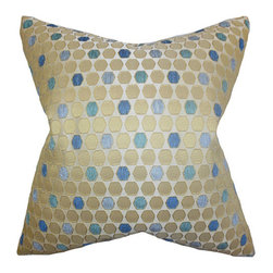The Pillow Collection - Itzel Topaz Blue 18 x 18 Geometric Throw Pillow - - Pillows have hidden zippers for easy removal and cleaning  - Reversible pillow with same fabric on both sides  - Comes standard with a 5/95 feather blend pillow insert  - All four sides have a clean knife-edge finish  - Pillow insert is 19 x 19 to ensure a tight and generous fit  - Cover and insert made in the USA  - Spot clean and Dry cleaning recommended  - Fill Material: 5/95 down feather blend The Pillow Collection - P18-M-SPINE-TOPAZ