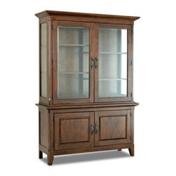 Klaussner Carturra China Cabinet - With simple, classic lines and a gorgeous construction of solid mango and rubber woods, the Klaussner Carturra China Cabinet creates a lovely display in your dining room. This china cabinet has two solid doors in the buffet, and two glass doors in the hutch. Two adjustable shelves behind each glass door give you plenty of room to display your china and other special pieces.About KlaussnerWith 16 U.S. manufacturing and distribution facilities and over 3,000 employees, Klaussner is well known for its quality, value priced home furnishings, produced by highly skilled employees and distributed by furniture retailers throughout the world. Asheboro, N.C., is home for several of Klaussner's manufacturing and distribution facilities as well as the company's corporate headquarters and a 100,000 square foot showroom. In recent years Klaussner has also begun to utilize worldwide sources to import leather upholstery, bedroom, dining room, occasional, entertainment, accents and most recently a full line of accessories. This has allowed Klaussner to become a full product and service provider for the whole home.