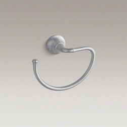 KOHLER - KOHLER Fort�(R) traditional towel ring - Add the Fort� Traditional towel ring to your bath or powder room to extend the collection's sleek design through the space. This striking towel ring features a sweeping open-hook design that offers a stylish, convenient place for displaying hand towels.