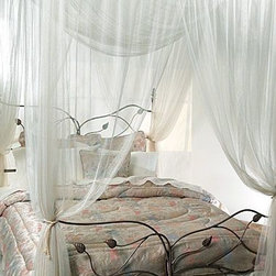 Yungjohann Hillman,inc Dba Mombasa - Majesty Ivory Large Bed Canopy - Bed canopy brings you back in time. Canopy hangs easily with included top-loops from a ceiling or four poster bed since no frame is necessary.