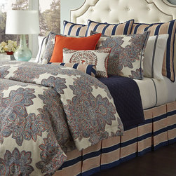 Legacy Home - Striped European Sham - BLUE/BROWN (EUROPEAN) - Legacy HomeStriped European Sham