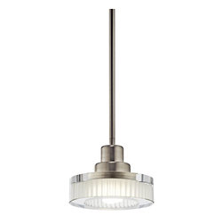 Kichler - Kichler Tierra Mini Pendant Light Fixture in Brushed Nickel - Shown in picture: Mini Pendant 1Lt Fluorescent in Brushed Nickel