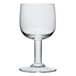 "Alessi - Alessi ""Glass Family"" Goblet, Set of 4 - A drinking glass with foot and stem without handles. This set of four crystalline glass goblets are solid, shapely and just waiting for you to pour your favorite cab, zinf, pinot or chard — and then toast your compadres."