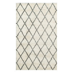 Rugsville - Rugsville  Moroccan Beni Ourain Ivory 10996 Wool Rug, Tan & Ivory, 9'x12' - Simple Moroccan pattern are perfect for every kind of home decor.