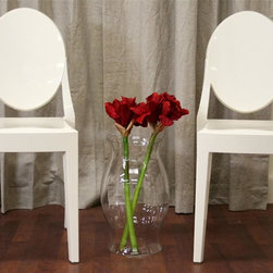 Wholesale Interiors - Baxton Studio Michelle Acrylic Accent Chair i - Set of 2. Vase not included. Stackable. Formal, classic, clean and modern chair design. Lightweight but sturdy opaque ivory acrylic. Plastic non-marking foot to help protect sensitive flooring. No assembly required. 19 in. W x 15 in. D x 36 in. H. Seat: 15.5 in. D x 19 in. H