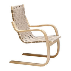 Artek - Artek Armchair 406 | 2Modern - Apply some strap to your behind without punishing yourself. How, you ask? With this casually comfortable seat featuring a leather strap weave.