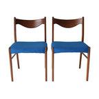 Danish Modern Chairs - A Pair - Dimensions 19.0ʺW × 17.0ʺD × 31.0ʺH
