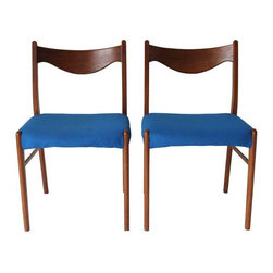 Danish Modern Chairs - A Pair - Dimensions 19.0ʺW × 17.0ʺD × 31.0ʺH