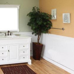 Bellaterrra - Bellaterra 205050 50 In Single Sink Vanity-Wood-White - 50x22.5x35.5 in. - Bellaterra 205050 50 In Single Sink Vanity-Wood-White  - 50x22.5x35.5 in.